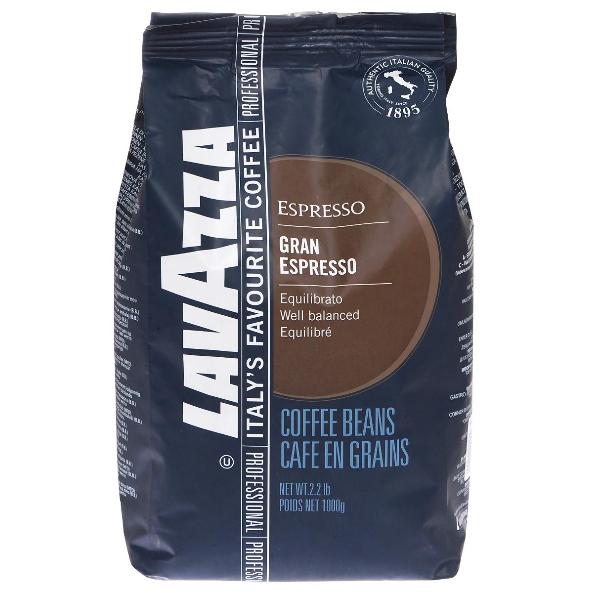 Lavazza Gran Espresso кофе в зернах, 1 кг8000070121348Кофе Lavazza Gran Espresso - идеальный итальянский эспрессо с богатым и сбалансированным вкусом. Аромат темного шоколада и специй для сливочного и обволакивающего эспрессо.