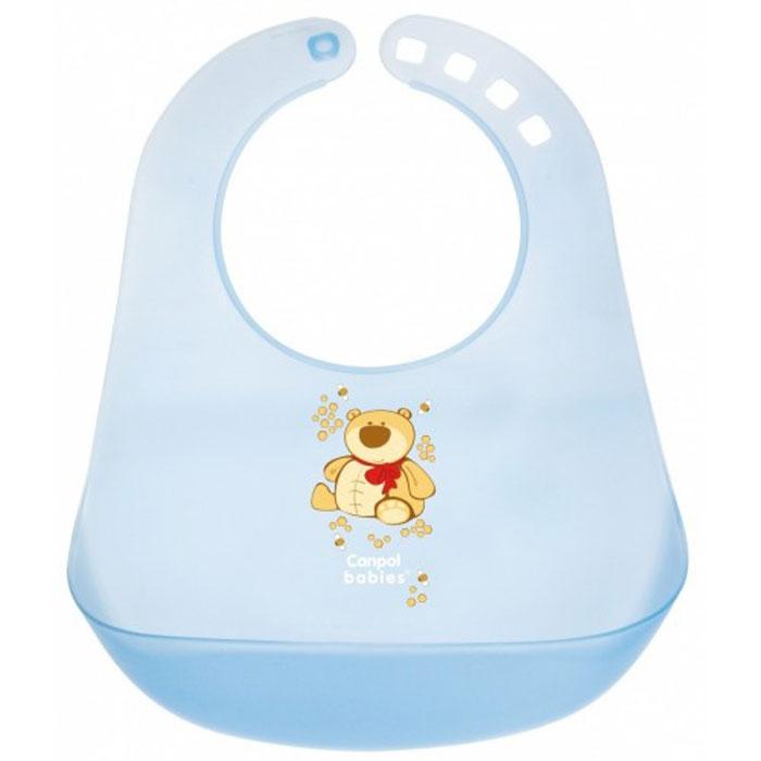 Canpol Babies Слюнявчик пластиковый цвет голубой