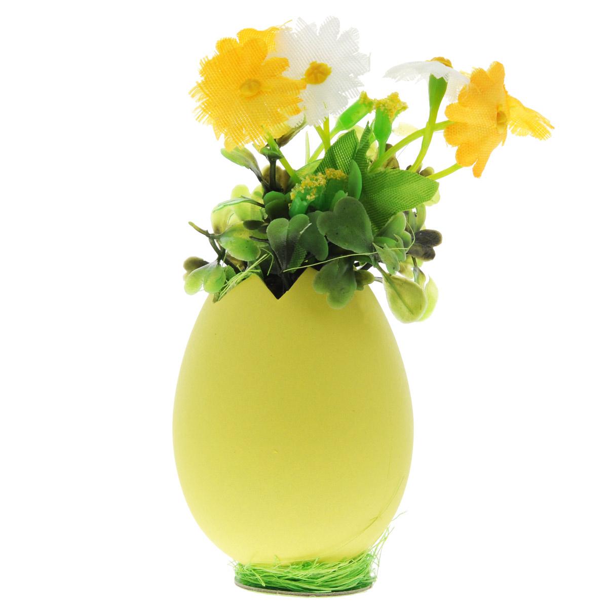 Декоративное украшение Home Queen Цветы в скорлупе, цвет: желтый, оранжевый, 5 см х 11 см58246Декоративное украшение Home Queen Цветы в скорлупе выполнено из пластика и полиэстера в виде композиции из яичной скорлупы и цветов. Такое украшение прекрасно оформит интерьер дома или станет замечательным подарком для друзей и близких на Пасху. Размер: 5 см х 11 см х 5 см.