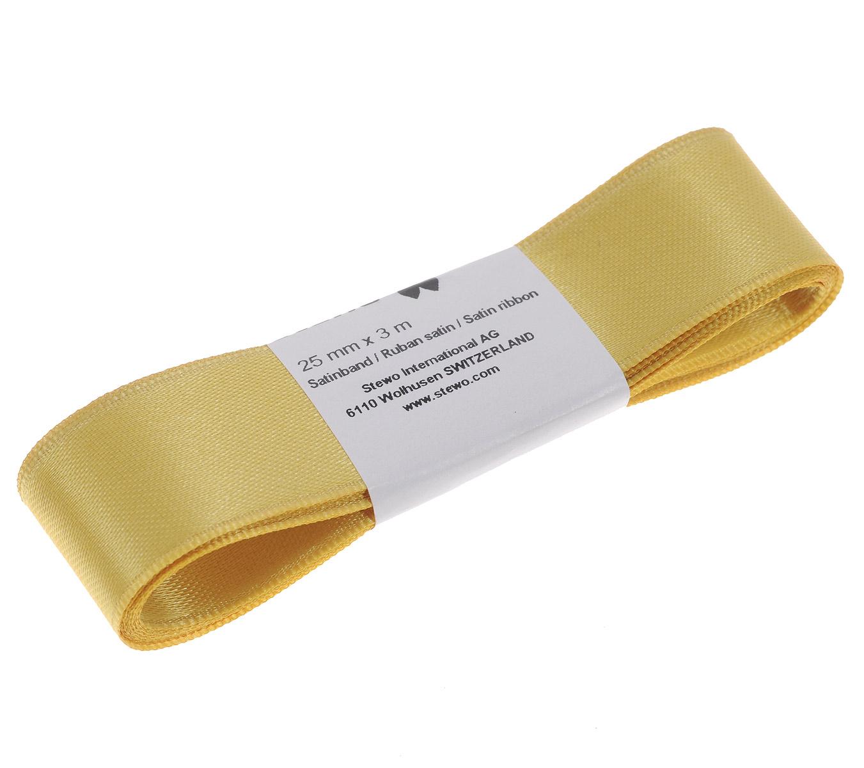 """Лента атласная """"Brunnen"""", цвет: золотистый, ширина 2,5 см, длина 3 м"""