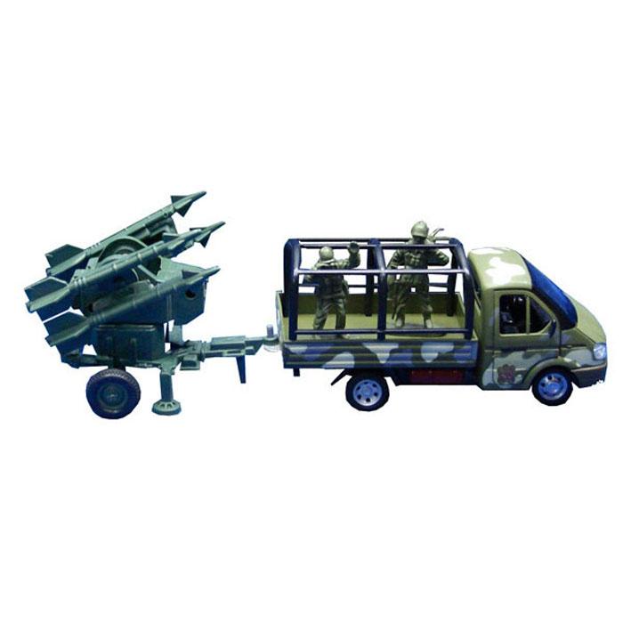 ТехноПарк Игровой набор Газель с пушкойGAZKUNG07-RИгровой набор ТехноПарк Газель с пушкой включает в себя газель, пушку и 2 фигурки солдатиков. Модели отличаются высоким качеством исполнения и детализации. Корпус моделей выполнен из пластика и металла, стекла изготовлены из прочного прозрачного пластика. Колесики машинки и пушки вращаются, дверцы кабины открываются, ствол пушки поворачивается. Ваш ребенок часами будет играть с набором, придумывая различные истории. Порадуйте его таким замечательным подарком!