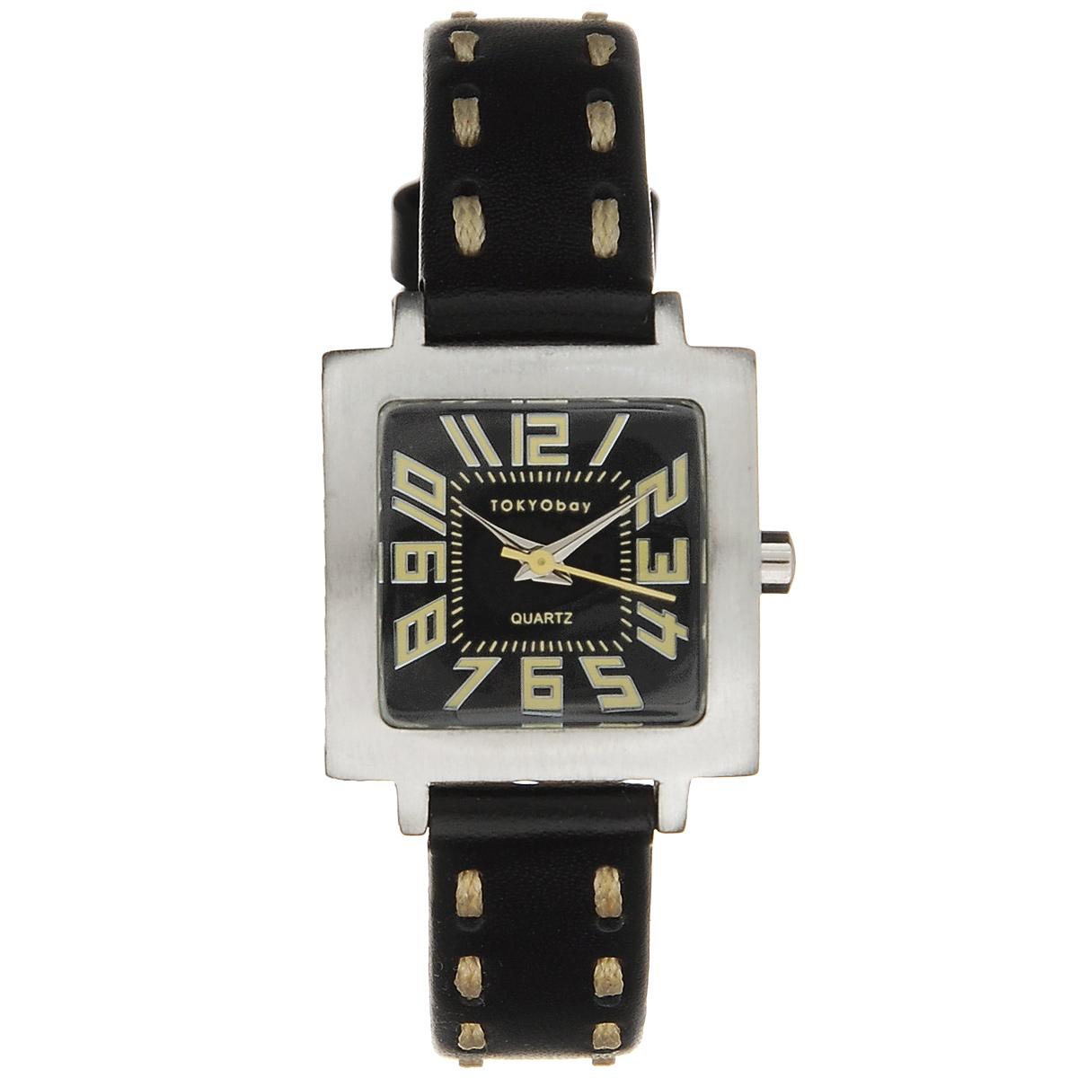 Часы женские наручные Tokyobay Tramette, цвет: черный. T205-BKT205-BKЧасы оснащены японским кварцевым механизмом Miyota. Корпус выполнен из сплава металлов, не содержащего никель. Задняя крышка изготовлена из нержавеющей стали. Циферблат оформлен крупными арабскими цифрами, имеет три стрелки - часовую, минутную и секундную. Циферблат защищен ударопрочным оптическим пластиком. Ремешок выполнен из натуральной кожи и текстиля, застегивается на классическую застежку-пряжку. Часы Tokyobay - это практичный и модный аксессуар, который подчеркнет ваш безупречный вкус. Характеристики: Корпус: 2,2 х 2,2 х 0,8 см. Размер ремешка: 18 х 1,2 см. Не содержит никель. Не водостойкие.