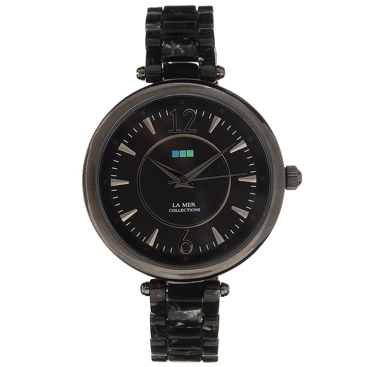 "Часы наручные женские La Mer Collections ""Gunmetal Black/Silver Black Dial"". LMSICILY006 ( LMSICILY006 )"