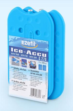 Аккумулятор холода Ezetil Ice Akku G 270, 2 х 245 г886939Аккумулятор холода Ezetil Ice Akku G 270 применяют для охлаждения продуктов в термосумках и термоконтейнерах. Также аккумулятор холода необходим для стабилизации температур в низкотемпературных камерах, для увеличения времени безопасного хранения замороженных продуктов при аварийных отказах холодильника / морозильника. Преимущества аккумулятора холода: - Быстрое и эффективное охлаждение; - Новая сверхтонкая формула экономит место; - Идеально подходит для сумок-холодильников и контейнеров; - Многоразовое использование; - От -25 °C до +55 °C. Не подходит для мытья в посудомоечной машине. Содержимое пакета не токсично. Объем: 0,49 л. Размер аккумулятора: 21 см х 12 см х 1 см. Вес: 245 г. Количество: 2 шт.