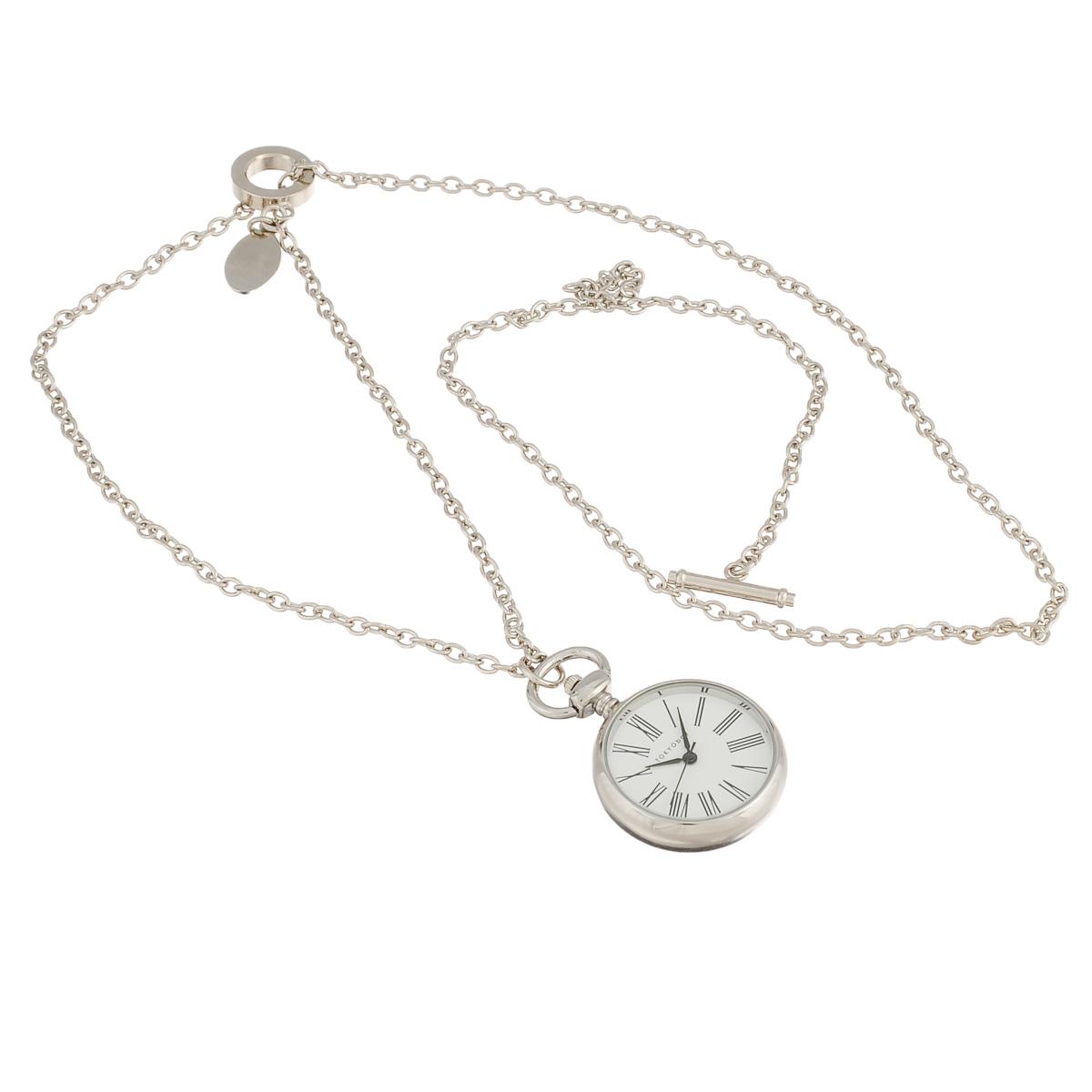 Часы женские наручные Tokyobay Fancy Harriet Silver Pendant. T112-SIT112-SIНаручные часы Tokyobay - это стильное дополнение к вашему неповторимому образу. Эти часы созданы для современных девушек, ценящих стиль, качество и практичность. Часы оснащены японским кварцевым механизмом Miyota. Корпус выполнен из металла, не содержащего никель. Задняя крышка изготовлена из нержавеющей стали. Циферблат декорирован крупными римскими цифрами, имеет три стрелки - часовую, минутную и секундную. Браслет выполнен из металлического сплава в виде цепочки. Часы Tokyobay - это практичный и модный аксессуар, который подчеркнет ваш безупречный вкус. Характеристики: Корпус: 29 х 29 х 7 мм. Размер цепочки: 40 х 0,3 см. Не водостойкие.