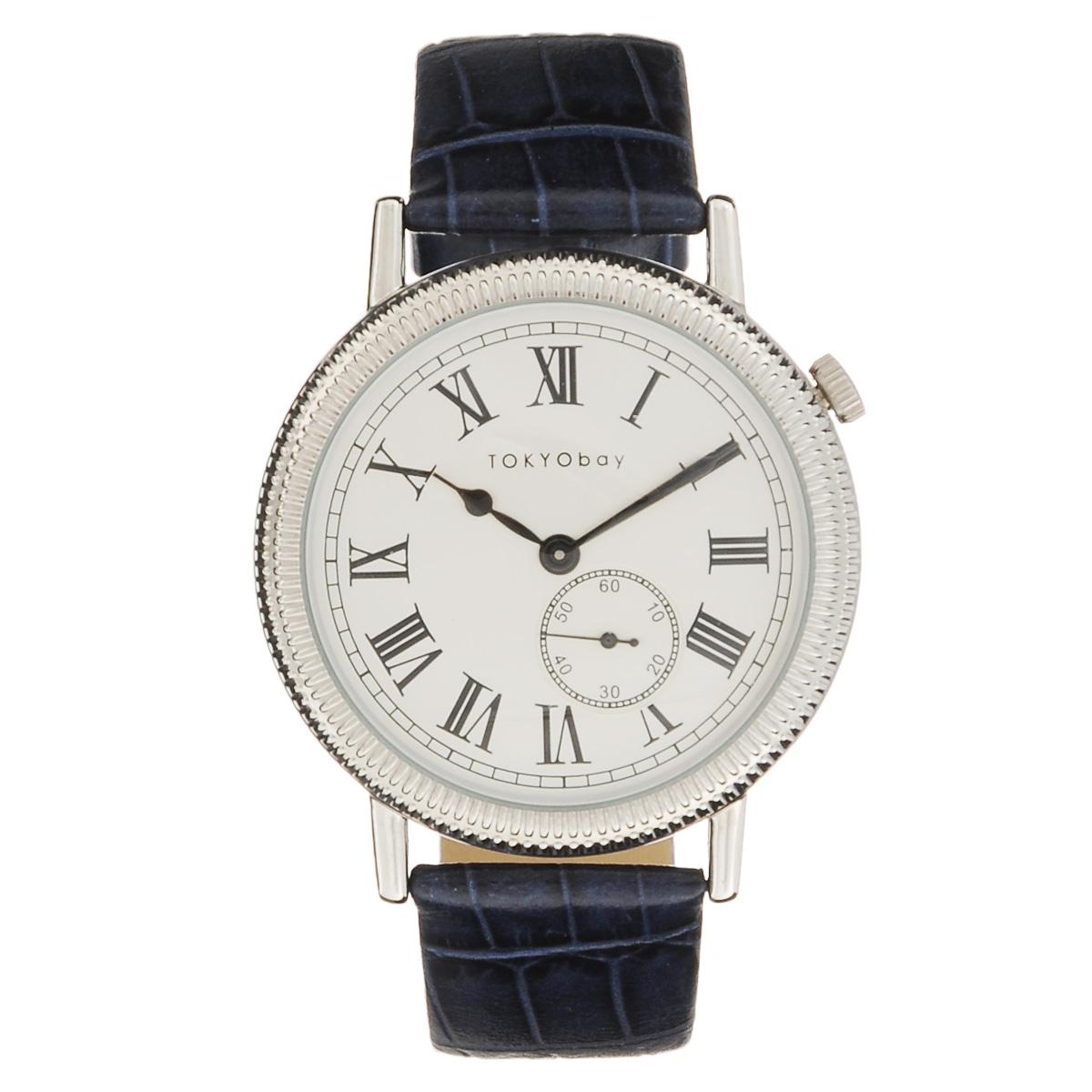 Часы женские наручные Tokyobay Roman Holiday, цвет: синий. T330-BLT330-BLНаручные часы Tokyobay - это стильное дополнение к вашему неповторимому образу. Эти часы созданы для современных женщин, ценящих стиль, качество и практичность. Часы оснащены японским кварцевым механизмом Miyota. Корпус выполнен из сплава металлов, не содержащего никель. Задняя крышка изготовлена из нержавеющей стали. Циферблат декорирован римскими цифрами и имеет отдельный секундный механизм. Ремешок выполнен из натуральной кожи с тиснением под крокодиловую кожу. Часы Tokyobay - это практичный и модный аксессуар, который подчеркнет ваш безупречный вкус. Характеристики: Корпус: 4,1 х 4,1 х 0,7 см. Размер ремешка: 20 х 1,9 см. Не содержит никель. Не водостойкие.