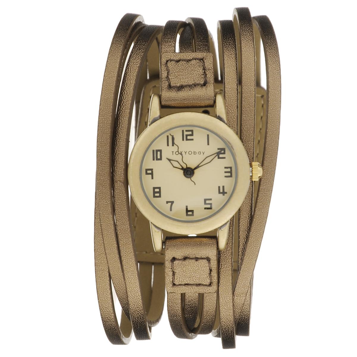 Часы женские наручные Tokyobay Gaucho, цвет: бронзовый. T432M-BZT432M-BZНаручные часы Tokyobay - это стильное дополнение к вашему неповторимому образу. Эти часы созданы для современных женщин, ценящих стиль, качество и практичность. Часы оснащены японским кварцевым механизмом Miyota. Задняя крышка изготовлена из нержавеющей стали. Корпус изготовлен из металлического сплава, не содержащего никель. Циферблат украшен изящными стрелками - часовой, минутной и секундной. Ремешок тройной, выполнен из натуральной кожи. Часы Tokyobay - это практичный и модный аксессуар, который подчеркнет ваш безупречный вкус. Характеристики: Корпус: 2,2 х 2,2 х 1,2 см. Размер ремешка: 18 х 1 см. Не содержит никель. Не водостойкие.