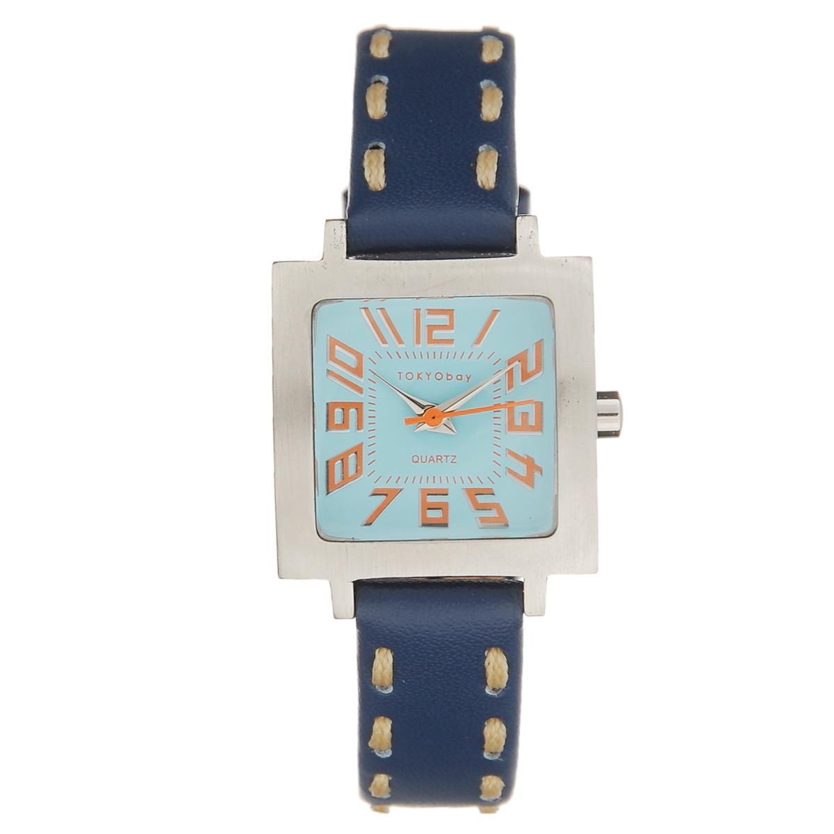 Часы женские наручные Tokyobay Tramette, цвет: синий, голубой, оранжевый. T205-BLT205-BLЧасы оснащены японским кварцевым механизмом Miyota. Корпус выполнен из сплава металлов, не содержащего никель. Задняя крышка изготовлена из нержавеющей стали. Циферблат оформлен крупными арабскими цифрами, имеет три стрелки - часовую, минутную и секундную. Циферблат защищен ударопрочным оптическим пластиком. Ремешок выполнен из натуральной кожи и текстиля, застегивается на классическую застежку-пряжку. Часы Tokyobay - это практичный и модный аксессуар, который подчеркнет ваш безупречный вкус. Характеристики: Корпус: 2,2 х 2,2 х 0,8 см. Размер ремешка: 18 х 1,2 см. Не содержит никель. Не водостойкие.