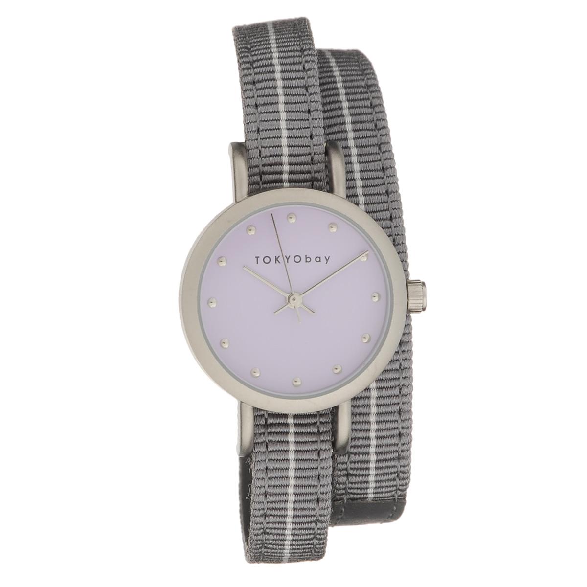 Часы женские наручные Tokyobay Obi, цвет: серый. T233-GY tokyobay часы tokyobay t233 gr коллекция obi