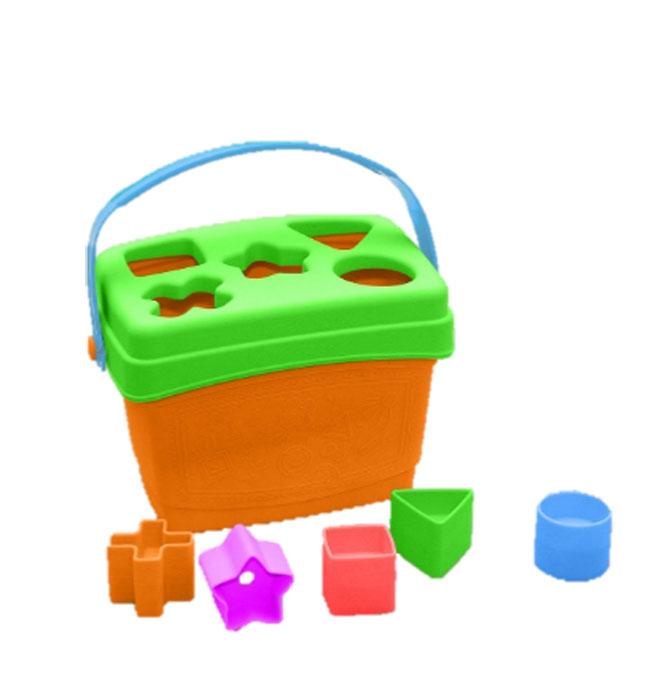 Развивающая игрушка-сортер Весёлые фигуркиS01Игрушка состоит из комплекта фигурок – крестик-2 шт., круг-2шт., треугольник-2шт., квадрат – 2 шт., звезда-2шт., ведра прямоугольной формы с ручкой и крышкой с пятью отверстиями, соответствующими фигуркам. Отверстия в крышке соответствуют каждый своей фигурке, невозможно вбросить другую фигурку в отверстие, не предназначенное для неё.