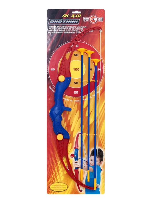 Игрушечный лук со стрелами Охотник ЛК–3/10MY47877Игрушечный лук со стрелами Радиус действия до 10 м