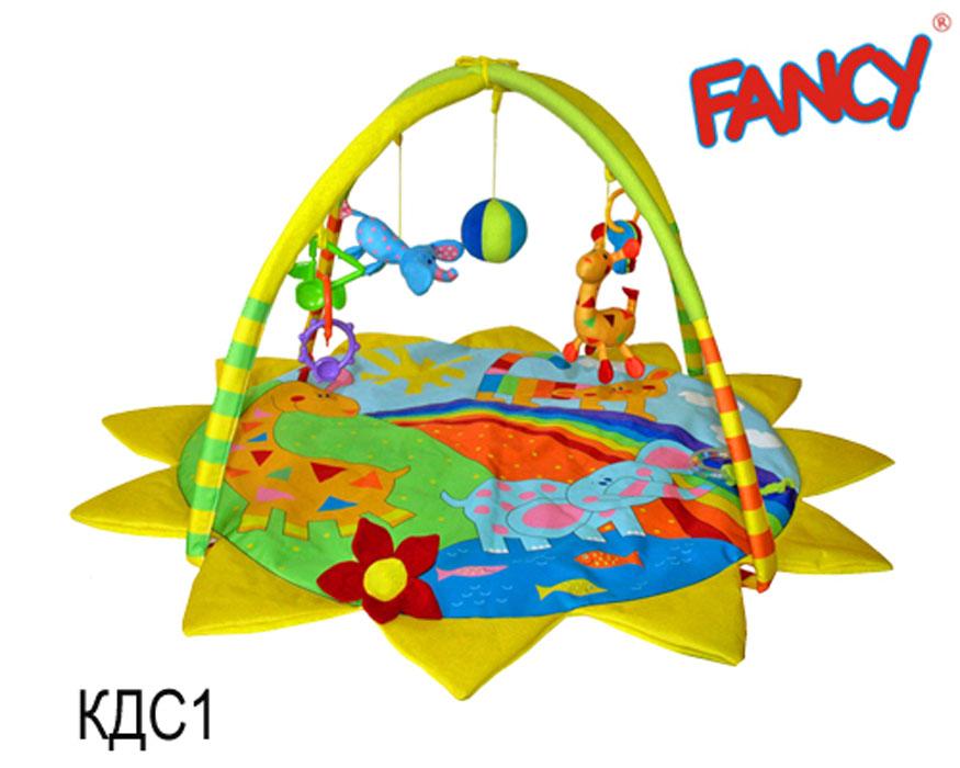 Mommy Love Развивающий игровой коврик Солнечная АфрикаКДС1\МРазвивающий игровой коврик Солнечная Африка с двумя съемными дугами станет первой площадкой для игр вашего малыша. Мягкий коврик выполнен из приятного на ощупь материала и оформлен изображением животных. Разработан интересный дизайн коврика, использованы безопасные дуги, которые легко крепятся к коврику, и самое главное - это забавные подвесные игрушки и погремушки: кольцо-погремушка, мягкая игрушка в виде жирафика, мягкий мячик-погремушка, мягкая игрушка-пищалка в виде цветка, 2 комбинированных погремушки и подвеска с тремя прорезывателями в виде ключиков. Все игрушки можно свободно снять и заменить на другие. Коврик легко складывается и удобен для хранения и перемещения. Игровой коврик Солнечная Африка поможет малышу развить вербальное, логическое, социальное, звуковое и цветовое восприятия, а также координацию движений и мелкую моторику рук.
