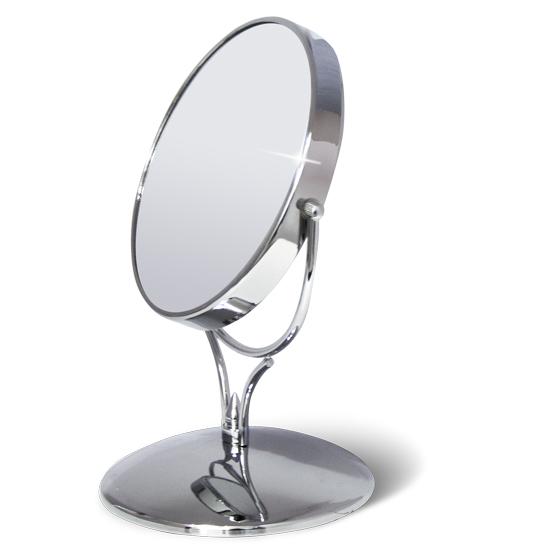 Зеркало двустороннее на подставке Tatkraft Aphrodite, диаметр 15 см11144Зеркало двустороннее на подставке Tatkraft Aphrodite изготовлено из хромированной стали. В круглом металлическом корпусе находятся 2 зеркала - обычное и увеличивающее. Отличный подарок представительнице прекрасного пола. Двукратное увеличение упрощает процесс ухода за лицом, надевания контактных линз.