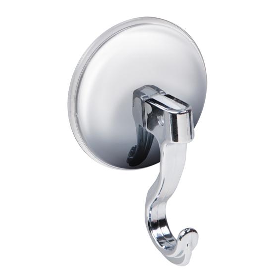 Крючок хромированный на присоске Tatkraft Magic Hook11625Настенный крючок Tatkraft Magic Hook на присоске позволяет избежать сверления стены. Крючок изготовлен из хромированного пластика. Хромированная чашка защищает крючок от стрессовых нагрузок. Перед креплением крючка необходимо обезжирить поверхность, на которую будет устанавливаться присоска, хорошо просушить данную поверхность. Вакуумная присоска может быть использована только на ровной воздухонепроницаемой поверхности - плитке, стекле, металле, пластике, зеркале, оргстекле и т.п. Характеристики: Материал: хромированный пластик. Цвет: стальной. Диаметр вакуумной присоски: 6 см. Высота крючка: 9 см. Размер упаковки: 14 см х 9 см х 3,5 см. Артикул: 11625.