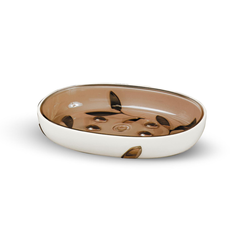 Мыльница Tatkraft Immanuel Olive, цвет: серый, коричневый12004Мыльница Immanuel Olive - отличное решение для ванной комнаты. Такой аксессуар очень удобен в использовании. Мыльница Immanuel Olive создаст особую атмосферу уюта и максимального комфорта в ванной.