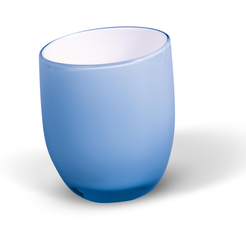 Стаканчик для ванной комнаты Immanuel Repose, цвет: синий, белый12264Стаканчик Immanuel Repose - отличное решение для ванной комнаты. Стаканчик овальной формы, выполнен из акрила синего и белого цветов. Такой аксессуар очень удобен в использовании, вы можете поместить в него все, что вам нужно. Стаканчик Immanuel Repose создаст особую атмосферу уюта и максимального комфорта в ванной. Характеристики: Материал: акрил. Цвет: синий, белый. Размер по верхнему краю: 7,5 см х 6,8 см. Высота: 9 см. Артикул: 12264.