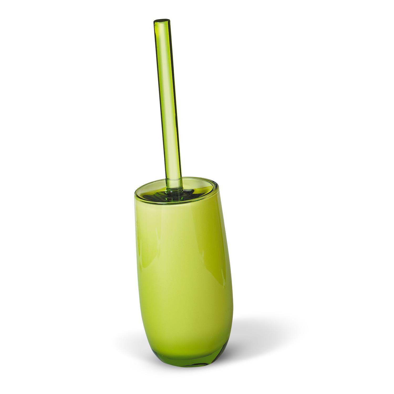 Гарнитур для туалета Immanuel Repose Green, цвет: салатовый. 1233212332Гарнитур для туалета Immanuel Repose Green включает в себя ершик и подставку. Ершик с жестким ворсом имеет удобную ручку, которая выполнена из прозрачного акрила. Подставка изготовлена из акрила салатового цвета с пластиковой емкостью внутри. Ершик полностью вставляется в подставку и закрывается крышкой, что обеспечит гигиеничность использования и облегчит уход. Ершик отлично чистит поверхность, а грязь с него легко смывается водой. Характеристики: Материал: акрил. Цвет: салатовый. Длина ершика: 34 см. Длина ворса: 1,5 см. Диаметр подставки для ершика по верхнему краю: 8,5 см. Высота подставки: 18,5 см. Артикул: 12332.