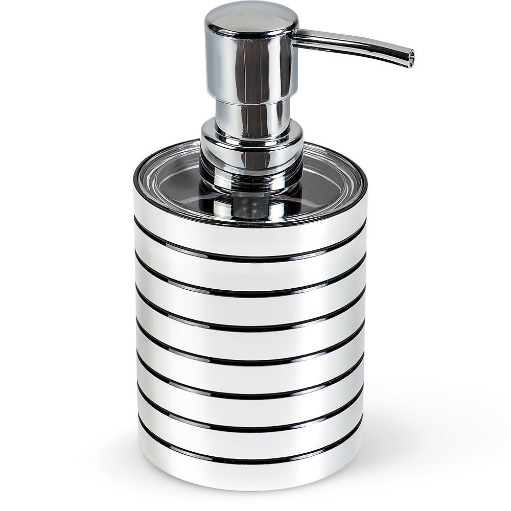 Дозатор для жидкого мыла Tatkraft Acryl Shine13155Дозатор для жидкого мыла Tatkraft Acryl Shine выполнен из акрила с зеркальным блеском. Дозатор для жидкого мыла отличается легкостью и компактностью, при этом он устойчив. Такой аксессуар очень удобен в использовании: достаточно лишь перелить жидкое мыло в дозатор, а когда необходимо использование мыла, легким нажатием выдавить нужное количество. Дозатор для жидкого мыла Tatkraft Acryl Shine прекрасно подойдет для интерьера ванной комнаты. Диаметр дозатора: 7,5 см. Высота дозатора: 15 см.