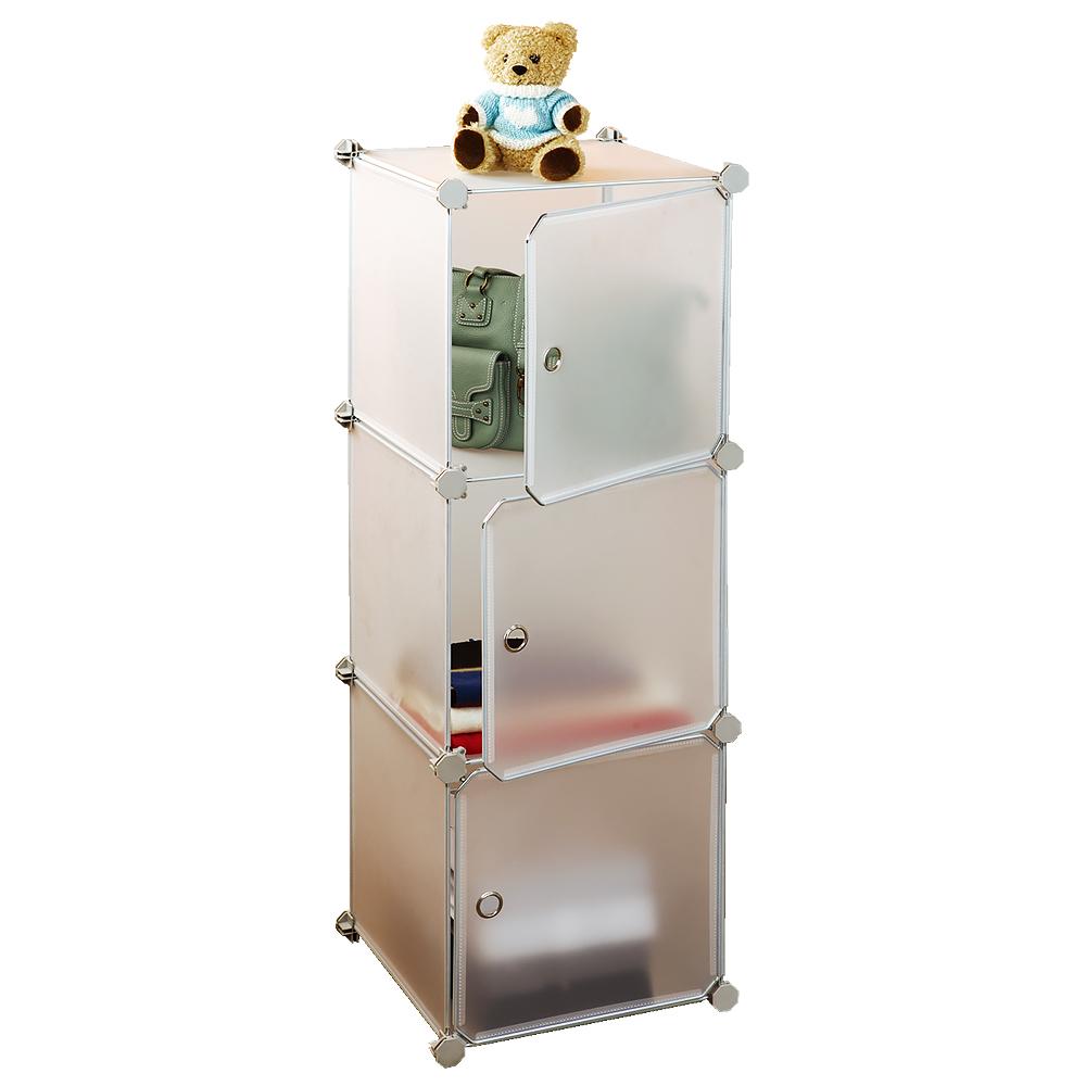 Стеллаж Tatkraft Smartbox, 3 куба, 36 х 36 х 108 см13230Стеллаж Tatkraft Smartbox состоит из 3 прозрачных кубов с дверцами. Вместительный и компактный стеллаж легко собирается и имеет разные варианты сборки. Основание стеллажа изготовлено из нержавеющей стали с хромированным покрытием, а кубы изготовлены из пластика. Такой стеллаж можно разместить где угодно: в ванной, в спальне, в прихожей. Благодаря стильному дизайну и компактному размеру, стеллаж займет достойное место в любом уголке дома. Размер стеллажа: 36 см х 36 см х 108 см. Размер одной секции: 36 см х 36 см х 36 см.