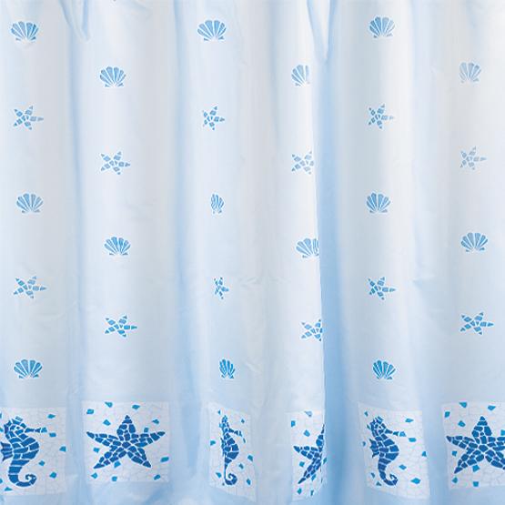 Шторка для ванной Tatkraft Морские мотивы, цвет: белый, голубой, 180 х 180 см14435Шторка для ванной Tatkraft Морские мотивы, изготовленная из полиэстера со специальной водоотталкивающей пропиткой, оформлена рисунком на морскую тематику. Имеет антигрибковое покрытие. Шторка быстро сохнет, легко моется и обладает повышенной износостойкостью. В комплекте также имеется 12 овальных колец из пластика. Шторка оснащена двумя магнитами по углам для лучшей фиксации. Мягкая и приятная на ощупь шторка для ванной Tatkraft Морские мотивы порадует вас своим ярким дизайном и добавит уюта в ванную комнату.