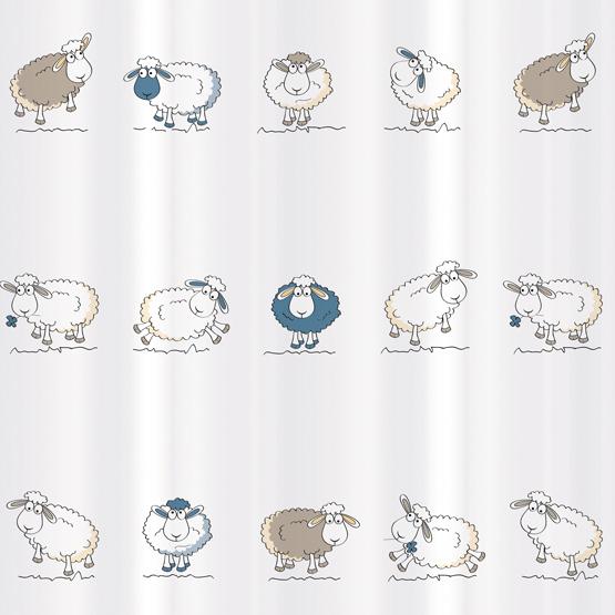 Штора для ванной комнаты Tatkraft Funny Sheep, 180 см х 180 см14862Штора для ванной Tatkraft Funny Sheep изготовлена из полиэстера - водонепроницаемого, мягкого на ощупь и прочного материала. Специальная водоотталкивающая пропитка позволяет каплям не задерживаться на поверхности, а быстро стекать вниз. Антигрибковое покрытие предотвращает появление плесени и продлевает срок службы. Штора быстро сохнет, легко моется и обладает повышенной износостойкостью. В комплекте 12 овальных пластиковых колец. Два магнита-утяжелителя по углам обеспечивают лучшую фиксацию. Штора для ванной Tatkraft порадует вас своим ярким дизайном и добавит уюта в ванную комнату.