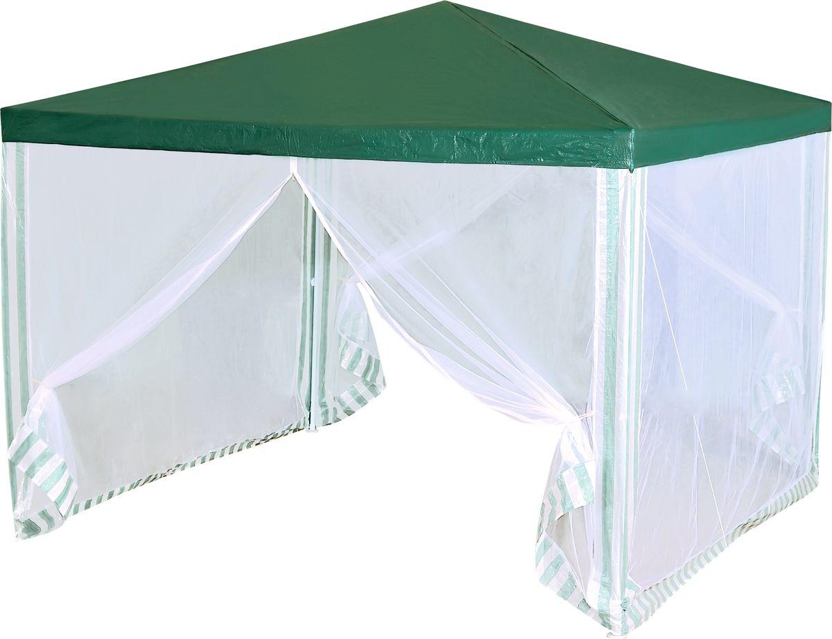 Тент садовый Green Glade 1028, 300 х 300 х 250 см1028Садовый тент Green Glade 1028 станет отличным помощником в организации праздника на свежем воздухе. Выполнен из высококачественного сетчатого полиэтилена. Каркас изготовлен из металлической трубки, благодаря чему тент имеет долгий срок эксплуатации. Тент защитит вас от дождя и солнца в летний день. Легко собирается, не занимает много места в сложенном виде. Не использовать при сильном ветре и дожде!