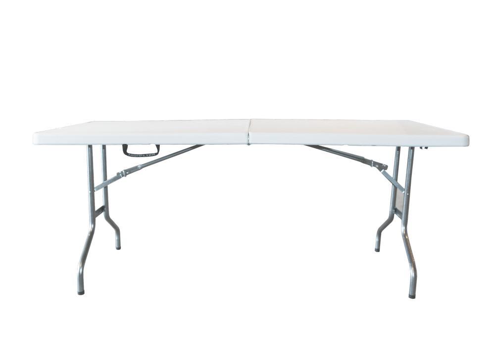 Стол Green Glade, 183 см х 74 см х 74 смF183Складной стол Green Glade предназначен для создания комфортных условий на дачном участке. Каркас стола выполнен из прочного металла, столешница из пластика. В сложенном виде стол не занимает много места. Толщина столешницы: 5 см.