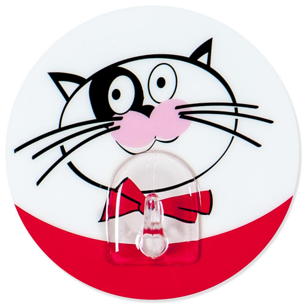 Крючок адгезивный Tatkraft Funny cats. 1820418204Крючок адгезивный Tatkraft Funny cats изготовлен из пластика и декорирован изображением кота. Крючок может быть установлен только на ровной воздухонепроницаемой поверхности: плитка, стекло, пластик, металл, ламинированное дерево и другие. Крючок является многоразовым, что позволяет перевесить его в любое удобное место. Крючок Tatkraft Funny cats имеет авторский дизайн, который украсит любой интерьер. Диаметр: 8 см. Длина крючка: 1,5 см. Максимальный вес: 3 кг.