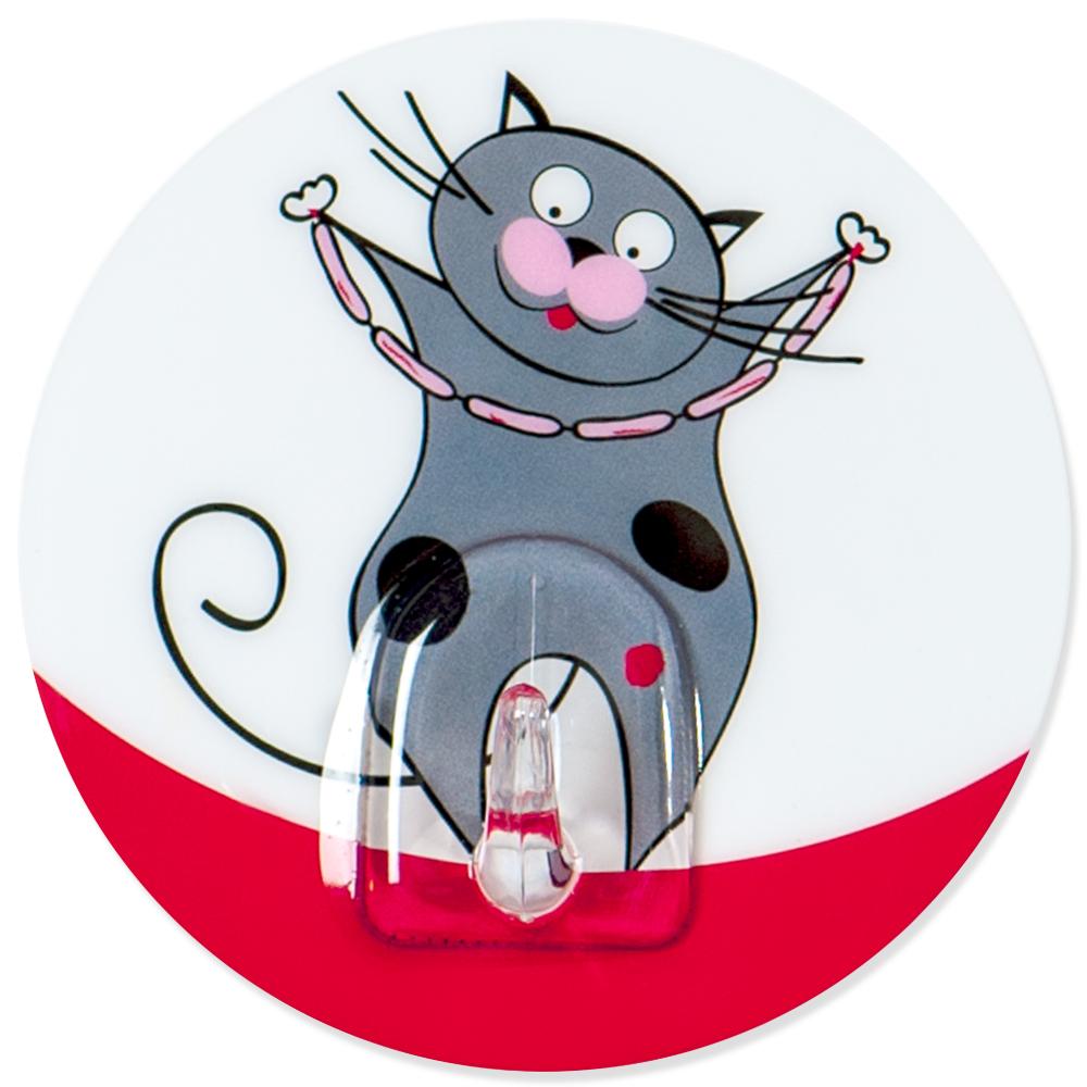 Крючок адгезивный Tatkraft Funny cats. 1822818228Крючок адгезивный Tatkraft Funny cats изготовлен из пластика и декорирован изображением кота. Крючок может быть установлен только на ровной воздухонепроницаемой поверхности: плитка, стекло, пластик, металл, ламинированное дерево и другие. Крючок является многоразовым, что позволяет перевесить его в любое удобное место. Крючок Tatkraft Funny cats имеет авторский дизайн, который украсит любой интерьер. Диаметр: 8 см. Длина крючка: 1,5 см. Максимальный вес: 3 кг.