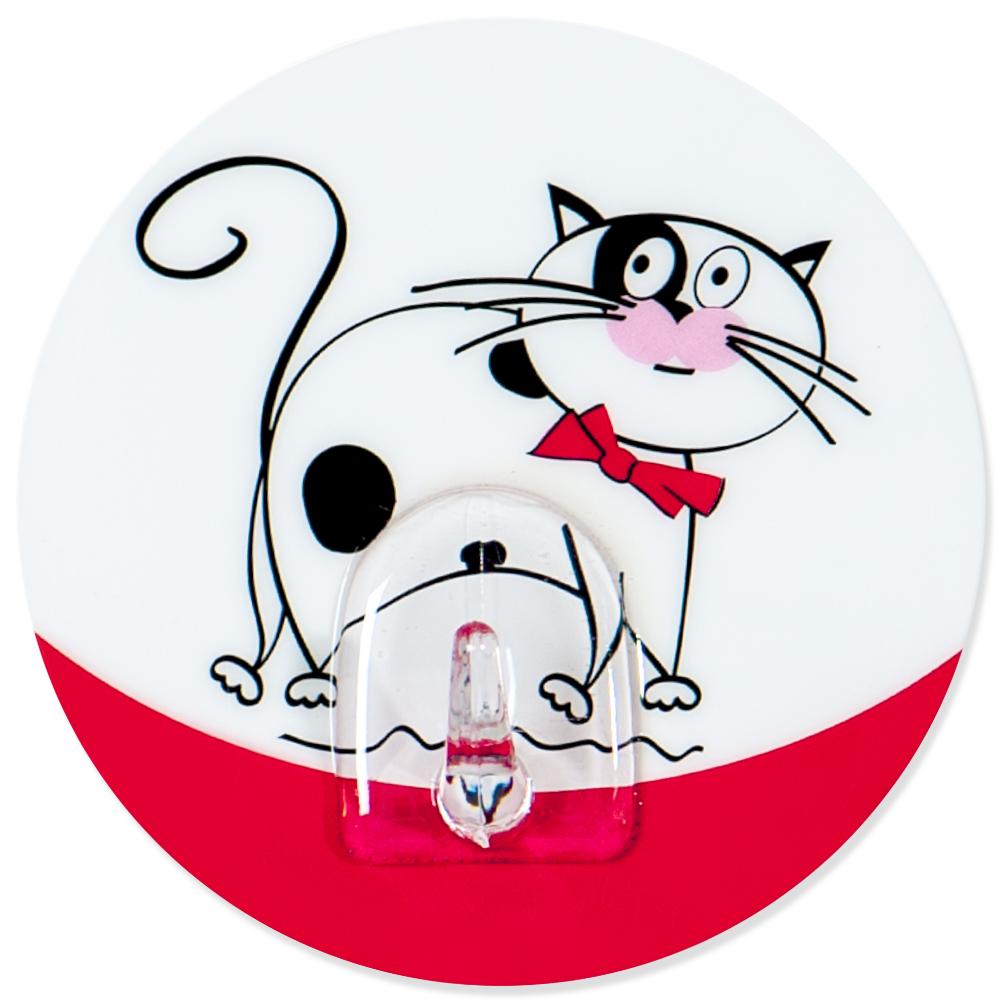Крючок адгезивный Tatkraft Funny cats. 1824218242Крючок адгезивный Tatkraft Funny cats изготовлен из пластика и декорирован изображением кота. Крючок может быть установлен только на ровной воздухонепроницаемой поверхности: плитка, стекло, пластик, металл, ламинированное дерево и другие. Крючок является многоразовым, что позволяет перевесить его в любое удобное место. Крючок Tatkraft Funny cats имеет авторский дизайн, который украсит любой интерьер. Диаметр: 8 см. Длина крючка: 1,5 см. Максимальный вес: 3 кг.