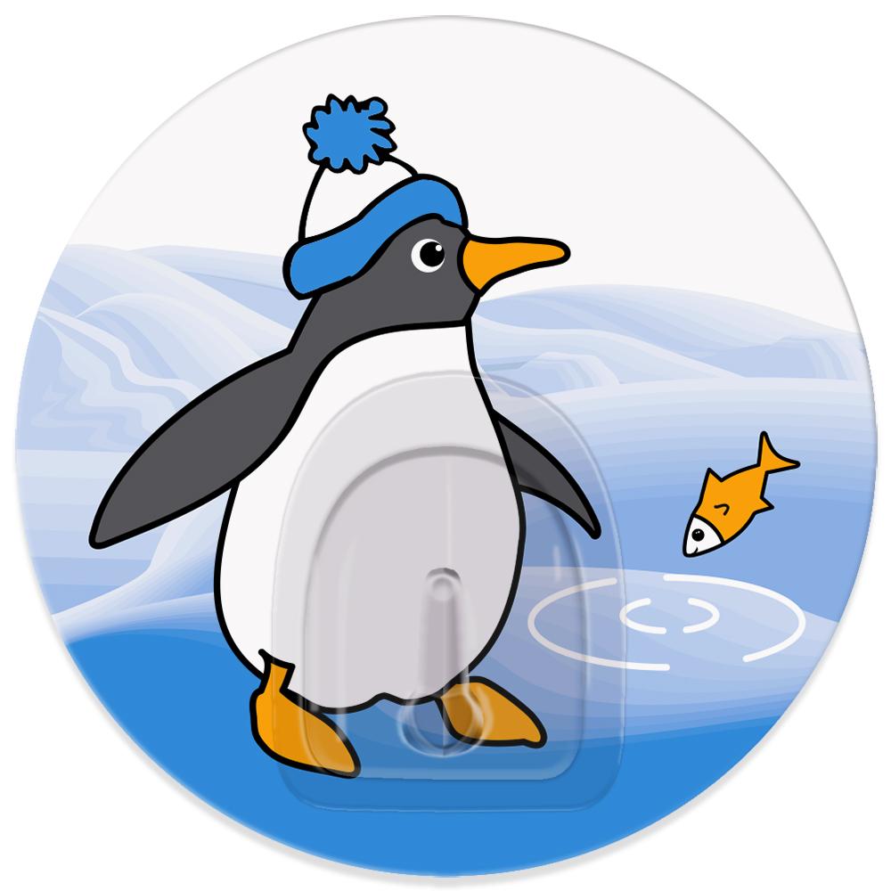 Крючок адгезивный Tatkraft Penguins Tino18631Крючок адгезивный Tatkraft Penguins Tino изготовлен из пластика и декорирован изображением пингвина. Крючок может быть установлен только на ровной воздухонепроницаемой поверхности: плитка, стекло, пластик, металл, ламинированное дерево и другие. Крючок является многоразовым, что позволяет перевесить его в любое удобное место. Не требует монтажа, легко приклеивается благодаря липкому слою. Диаметр: 8 см. Максимальный вес: 3 кг.