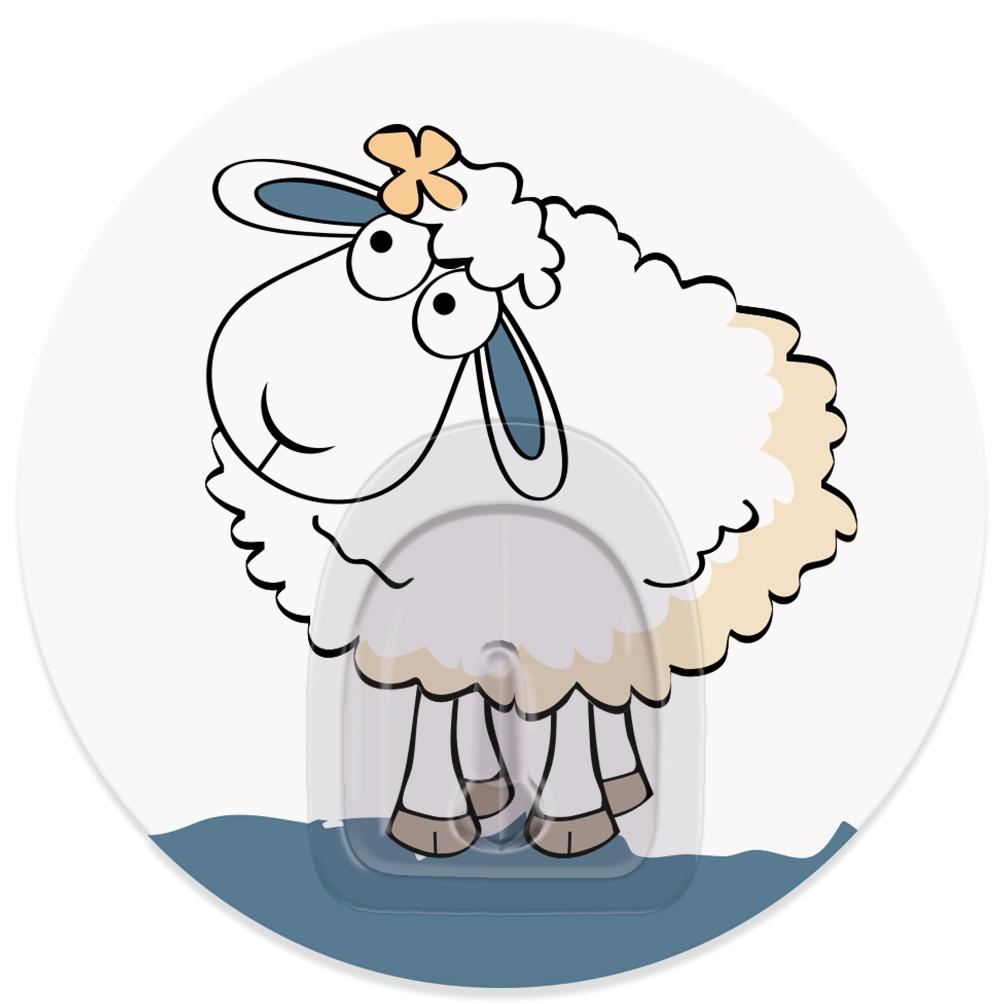 Крючок адгезивный Tatkraft Funny sheep. Linda, диаметр 8 см18679Крючок адгезивный Tatkraft Funny sheep. Linda изготовлен из пластика. Крючок может быть установлен только на ровной воздухонепроницаемой поверхности: плитка, стекло, пластик, металл, ламинированное дерево и другие. Крючок является многоразовым, что позволяет перевесить его в любое удобное место. Крючок Tatkraft Funny sheep. Linda имеет авторский дизайн, который украсит любой интерьер. Диаметр крючка: 8. Максимальная нагрузка: 3 кг.