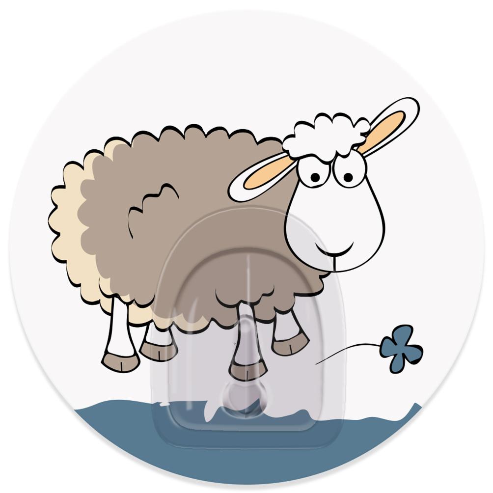 Крючок адгезивный Tatkraft Funny Sheep. Tela, диаметр 8 см18693Адгезивный крючок Tatkraft Funny Sheep. Tela изготовлен из пластика. Крючок может быть установлен только на ровной воздухонепроницаемой поверхности: плитка, стекло, пластик, металл, ламинированное дерево и другие. Крючок является многоразовым, что позволяет перевесить его в любое удобное место. Крючок Tatkraft Funny Sheep. Tela имеет авторский дизайн, который украсит любой интерьер. Диаметр крючка: 8. Максимальная нагрузка: 3 кг.