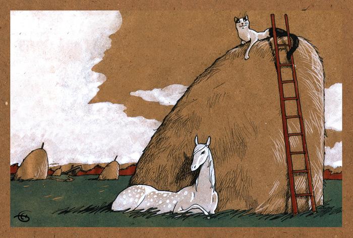 Открытка В ожидании Моне. Из набора Про Лошадь. Автор Катя БауманBE10-008Оригинальная дизайнерская открытка В ожидании Моне выполнена из плотного матового картона. На лицевой стороне расположена репродукция картины питерской художницы Кати Бауман. Открытка из набора серии Про лошадь. Такая открытка станет великолепным дополнением к подарку или оригинальным почтовым посланием, которое, несомненно, удивит получателя своим дизайном и подарит приятные воспоминания.