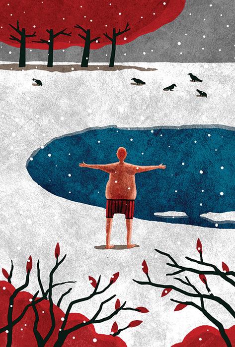 Открытка Закаляйся!. Автор Алексей ДеринDA10-003Оригинальная дизайнерская открытка Закаляйся выполнена из плотного матового картона. На лицевой стороне расположена репродукция картины художника Алексея Дерина. Такая открытка станет великолепным дополнением к подарку или оригинальным почтовым посланием, которое, несомненно, удивит получателя своим дизайном и подарит приятные воспоминания.