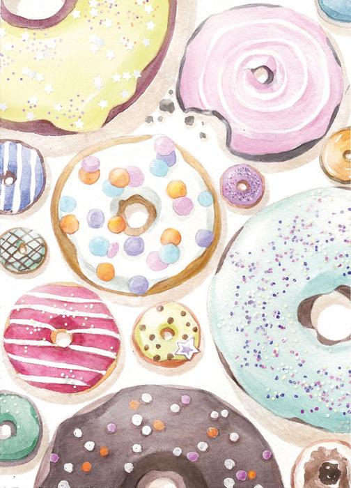 Открытка Пончики. Автор Мария ЛеманLM10-012