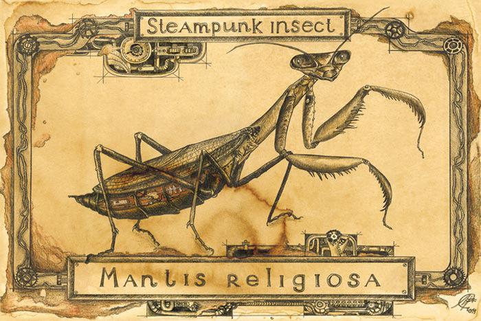 Открытка Богомол. Из серии Steampunk Insect. Автор Мария СкородумоваSM10-001Оригинальная дизайнерская открытка Богомол выполнена из плотного матового картона. На лицевой стороне расположена репродукция картины художницы Скородумовой Марии. Открытка из серии Steampunk Insect. Такая открытка станет великолепным дополнением к подарку или оригинальным почтовым посланием, которое, несомненно, удивит получателя своим дизайном и подарит приятные воспоминания.