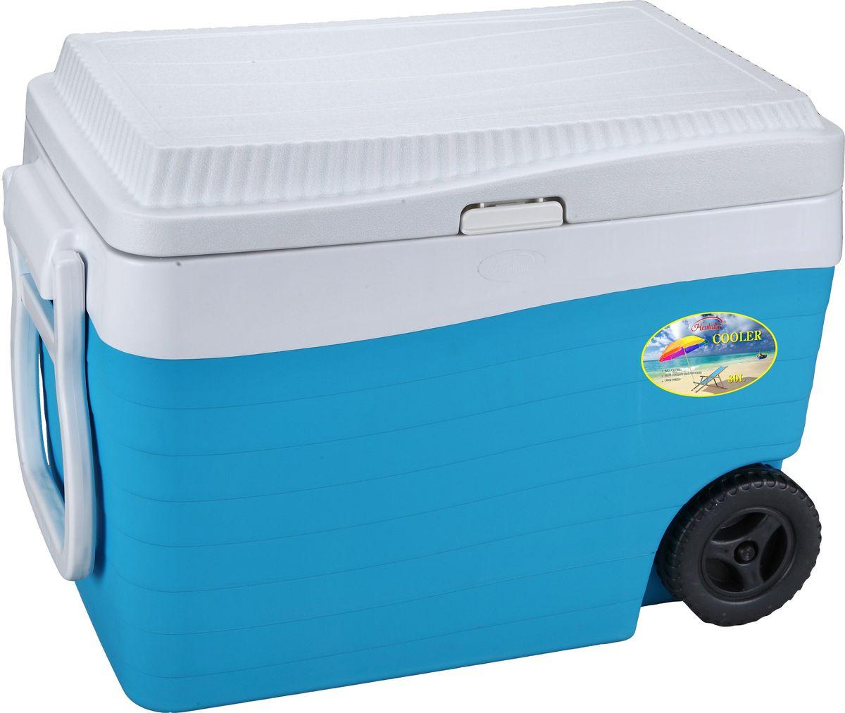 """Контейнер изотермический """"Green Glade"""", на колесиках, цвет: голубой, 80 л ( С22800 )"""