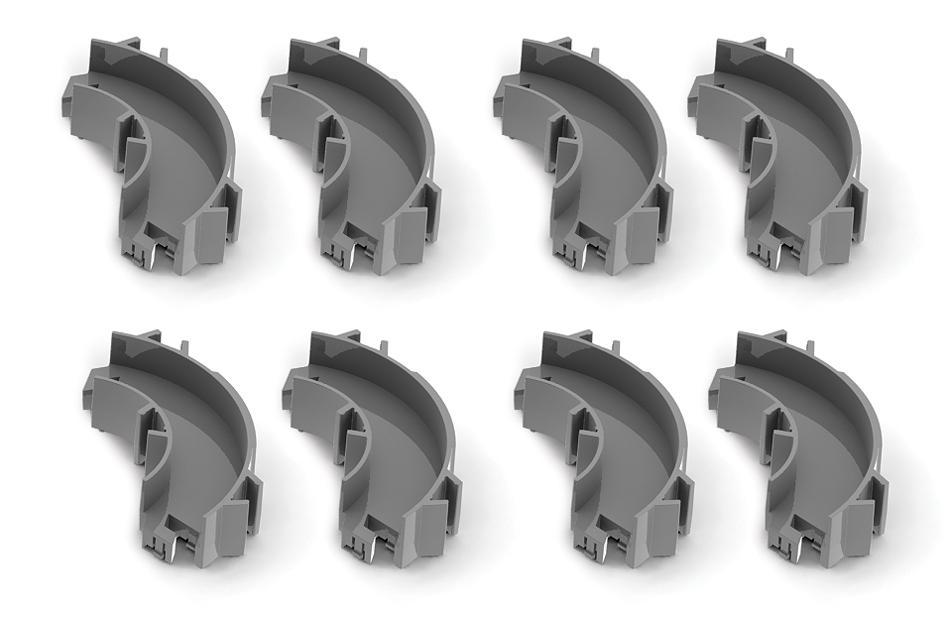Набор угловых элементов для нанодрома Hexbug Curved Parts477-1448Набор угловых элементов Hexbug Curved Parts создан для совмещения с остальными наборами Hexbug. С помощью угловых элементов вы сможете добавить в свой нанодром много поворотов и извилистых путей, сделав маршрут ваших Nano-жуков еще интереснее. В набор входит 8 угловых элементов, каждый из которых дает возможность развернуть маршрут трассы на 90°. Гарантия: 30 дней.