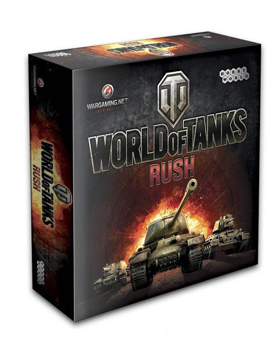 Hobby World Настольная игра World of Tanks Rush (2-е издание)1341World of Tanks: Rush - настольная карточная игра по мотивам онлайн-хита с многомиллионной аудиторией активных игроков World of Tanks, которая придётся всем по вкусу. Она проиллюстрирована художниками, работающими над онлайн-игрой, а также использует её оформление, терминологию и другие элементы. Задача игры - сформировать боеспособный отряд из сотни доступных карт техники и разгромить базы противников, сохранив свою. Бросайте танки в бой, защищайте базы, вызывайте подкрепление и получайте боевые медали, которые станут залогом вашей победы! Состав игры: 15 карт баз, 30 карт казарм, 100 карт техники, 48 карт медалей, 12 карт достижений, 5 карт-памяток, карта кладбища, карта первого игрока, правила игры.