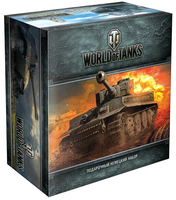 Hobby World Настольная игра World of Tanks Немецкий (4-е издание)1397Подарочный набор World of Tanks Немецкий - это великолепный подарок для любого поклонника онлайн-игры World of Tanks. Отличительные знаки на одежду и автомобиль помогут найти единомышленников- фанатов игры. Эксклюзивную бандану-трансформер можно носить более чем 10 способами. Специальный купон предоставит 10 дней премиум-аккаунта. Стильная и уникальная комплектация делает набор желанным для любого коллекционера подарочных изданий. В набор входит: код на получение уникального танка Pz.Kpfw. II Ausf. J и премиум-аккаунта на 10 дней, отличительный знак игрока World of Tanks, специальная табличка для автомобиля Мешает мой танк?, огромный настольный коврик, эксклюзивная бандана-трансформер, огромный двусторонний постер с артами из World of Tanks, уникальная кружка с изображением восхитительного Lowe, специальная подставка.