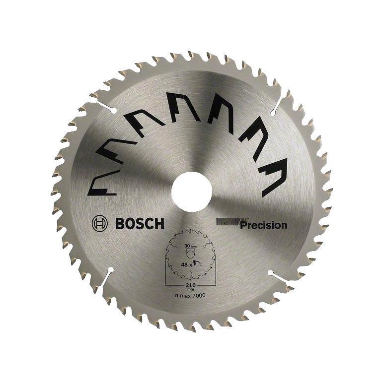 Циркулярный диск Bosch 210x30 48 PRECISION 26092568732609256873Bosch 2609256873 PRECISION - профессиональный диск для дисковых (циркулярных) пил. Диск позволяет делать чистые резы в таких материалах, как: твердое и мягкое дерево, ДСП-панели, МДФ и комбинированные материалы.