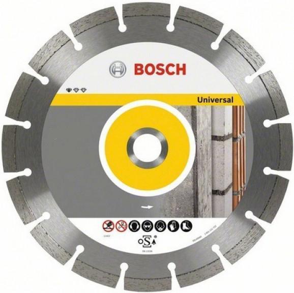 Алмазный диск Bosch 180-22,23 26086021942608602194Bosch Professional for Universal 2608602194 - отрезной алмазный диск, подходящий для работ по кирпичу, бетону, мрамору, тротуарной плитке, черепице, шиферу, гипсу и т. д. Ширина реза диска - 2 мм, высота сегмента - 10 мм.