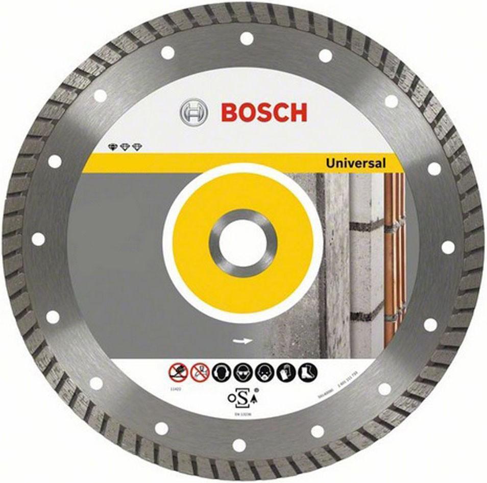 Алмазный диск Bosch 180-22,23 26086023962608602396Bosch Professional for Universal 2608602396 - отрезной алмазный диск, подходящий для работ по кирпичу, бетону, мрамору, тротуарной плитке, черепице, шиферу, гипсу и пр. Ширина реза диска - 2.5 мм, высота сегмента - 10 мм.