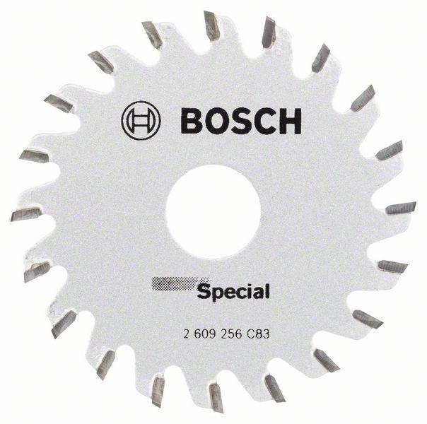 Циркулярный диск Bosch Special 65x15ммx20, PKS16Mul 2609256C832609256C83Bosch 2609256C83 - профессиональный диск для дисковых (циркулярных) пил. Диск позволяет делать чистые резы в таких материалах, как: твердое и мягкое дерево, ДСП-панели, МДФ и комбинированные материалы. Твердосплавные зубья обеспечивают долгий срок службы оснастки.
