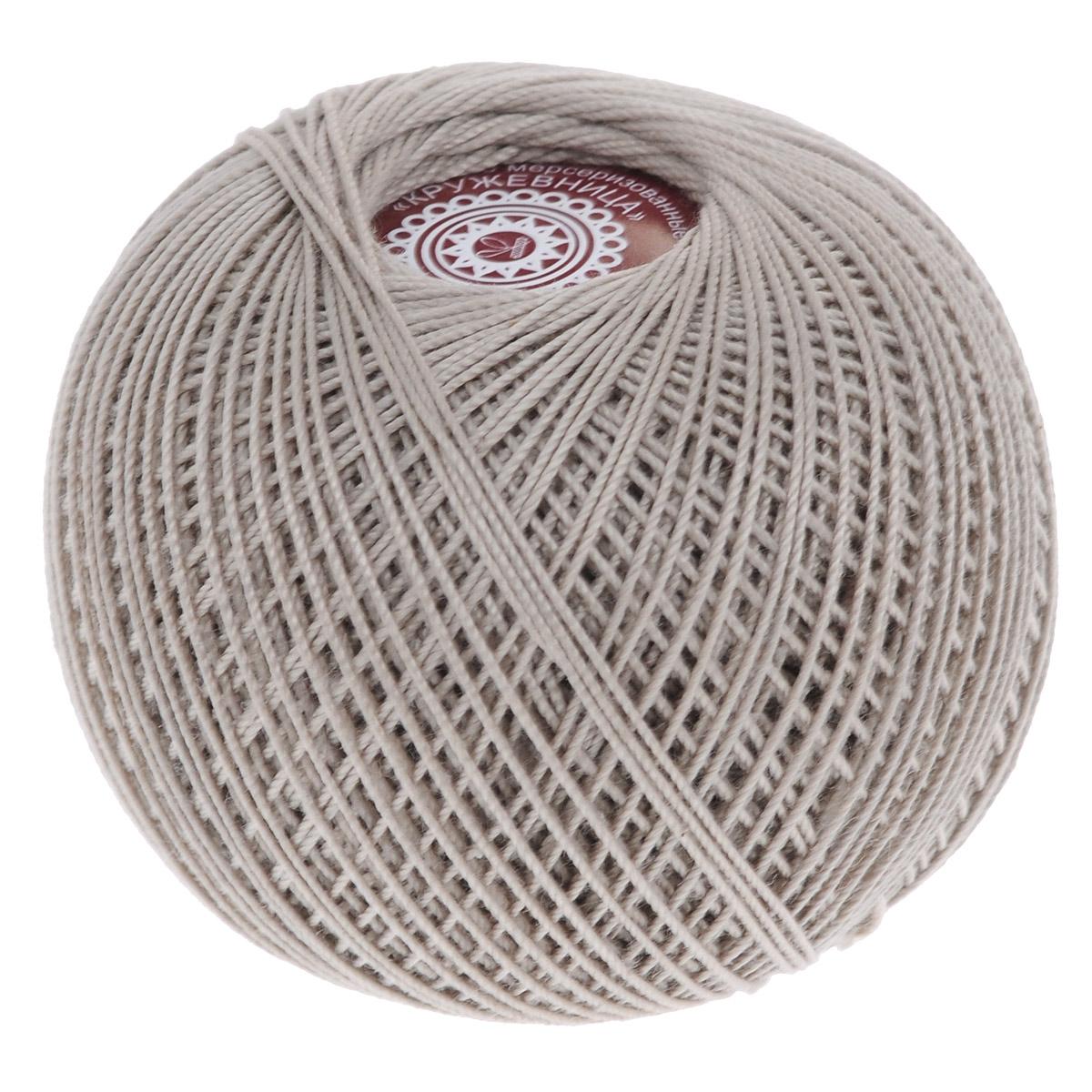 Нитки вязальные Кружевница, цвет: бежевый (6601), 195 м, 20 г, 2 шт0231102439778Мерсеризованные нитки Кружевница изготовлены из 100% хлопка и предназначены для создания воздушных легких кружев и тончайших элементов одежды. Подходят для вязания крючком, спицами. В наборе - 2 клубка. С их помощью вы сможете связать своими руками необычные и красивые вещи. Состав: 100% хлопок. Количество сложений: 3. Линейная плотность: 102 текс. Вес: 20 г. Длина нити: 195 м.