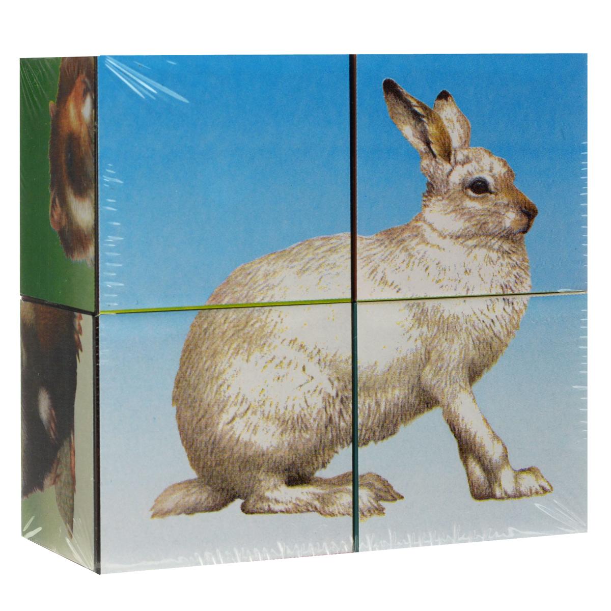 Кубики Stellar «Животные», с картинками, 4 шт