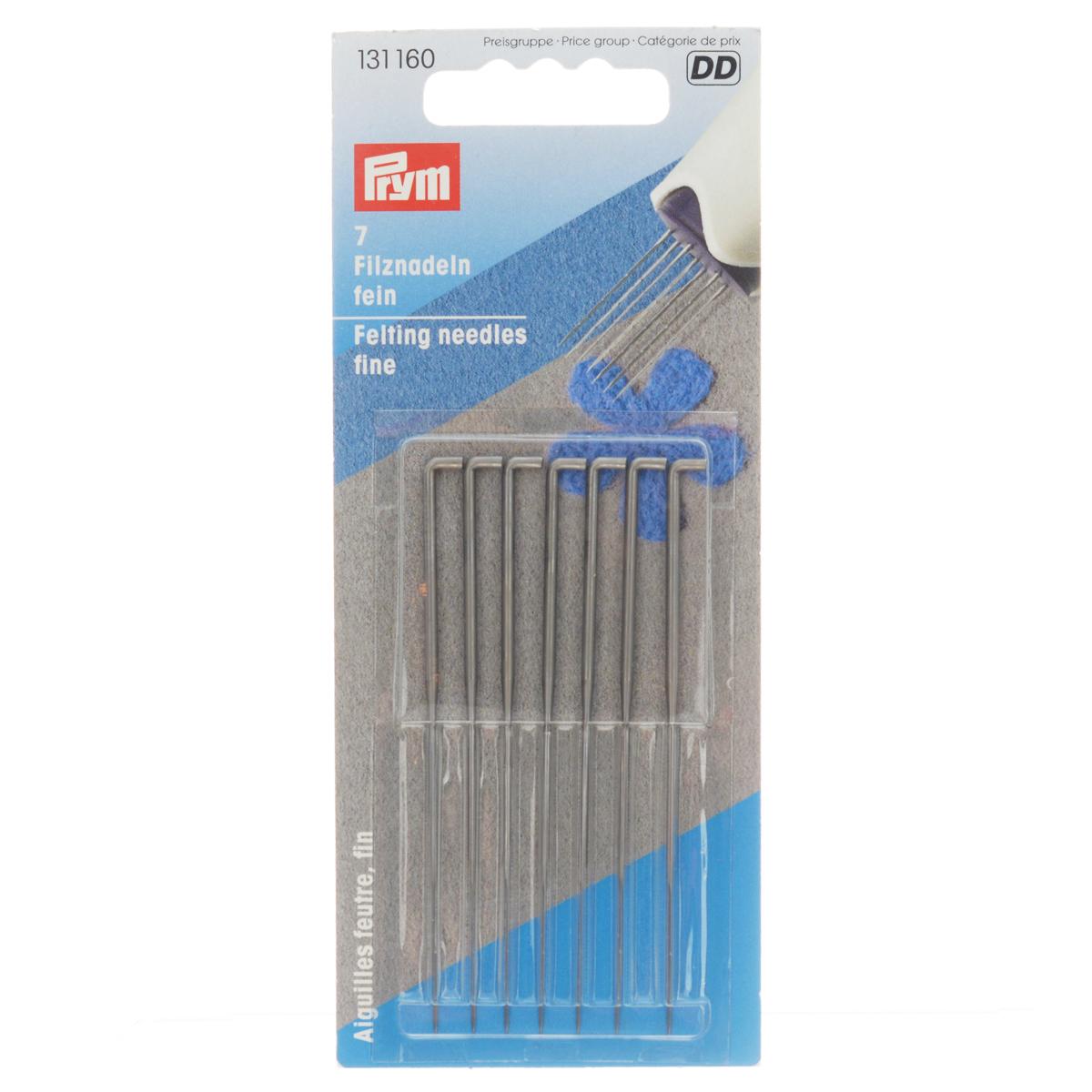 Набор игл Prym, для сваливания шерсти, тонкие, 7 шт131160Набор Prym состоит из 7 игл одинаковой длины. Изделия предназначены для сухого валяния шерсти. Иглы изготовлены из закаленной стали. Благодаря чему, они обладают хорошей упругостью и во время работы не гнутся. Комплектация: 7 шт. Материал: сталь.
