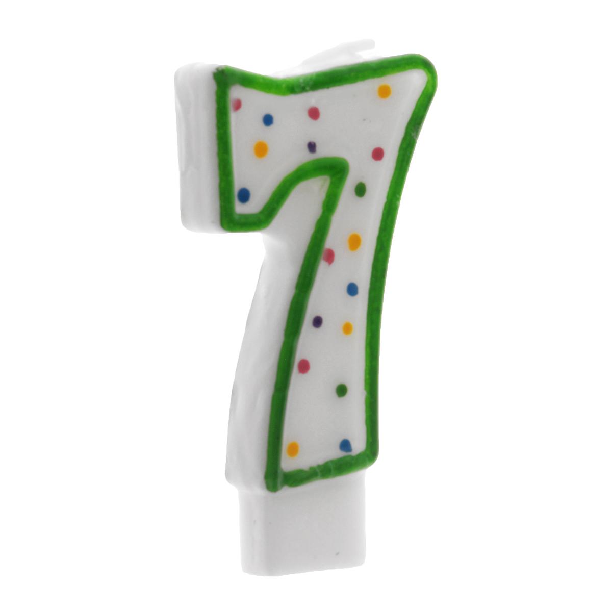 Свеча-цифра для торта Wilton Цифра 7, цвет: зеленый, высота 7,6 смWLT-2811-9107Свеча-цифра для торта Wilton Цифра 7 изготовлена из высококачественного воска. Это отличное решение для декорирования торта к празднику. Ее можно комбинировать с другими цифрами. Изделие хорошо и долго горит. С этой свечой ваш праздник станет еще удивительнее и веселее. Высота свечи (без учета фитиля): 7,6 см.