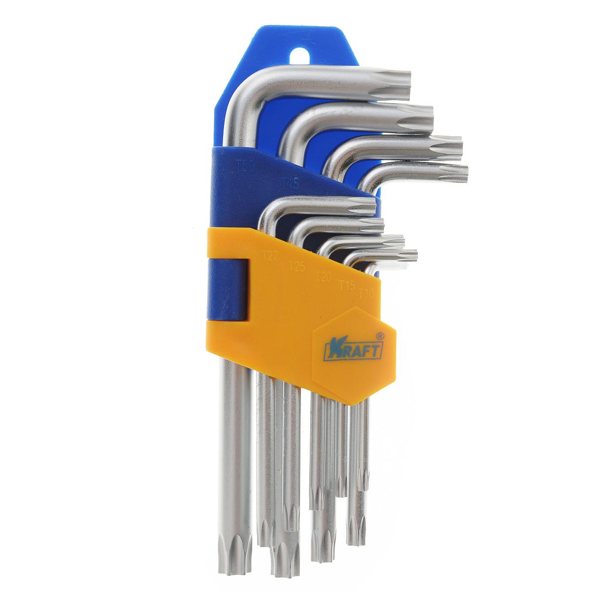 ����� ������ ������������ Kraft Professional Torx, ��������, �10 - �50, 9 �� - Kraft��700567����� ������������ ���������� ������ Kraft Professional Torx ������������ ��� ������ � ���������� ����������, �������� ���������� ������������. ������ ���� ���������� �� ��������������� ����� � ������� ������������ � ������� �������� torx. � ����� ������ �����: �10, �15, �20, �25, �27, �30, �40, �45, �50.